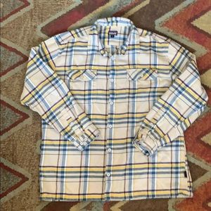 Patagonia plaid flannel button front extra-large